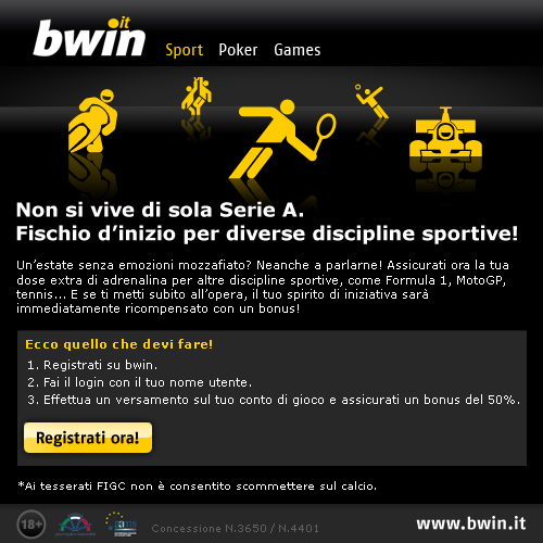 Su Bwin c'è il nuovo bonus estivo: registrati subito per ottenerlo e avere ulteriori informazioni.