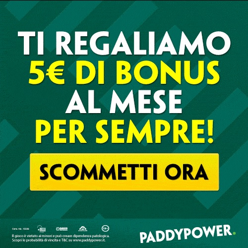 Paddy Power: bonus esclusivo